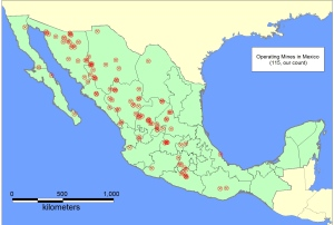 Mines in Mexico