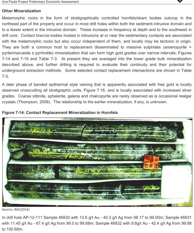Contact Replacement Mineralization in Hornfels1